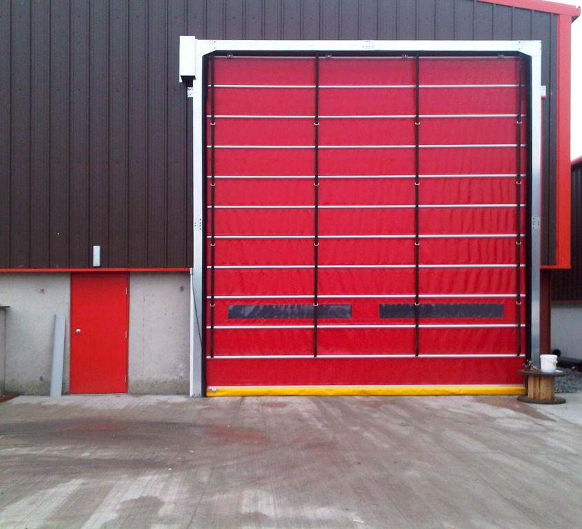 Yüksek Hızlı PVC Katlanır Kapı
