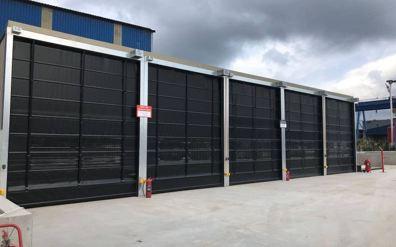 Hızlı PVC (Branda) Katlanır Kapı11