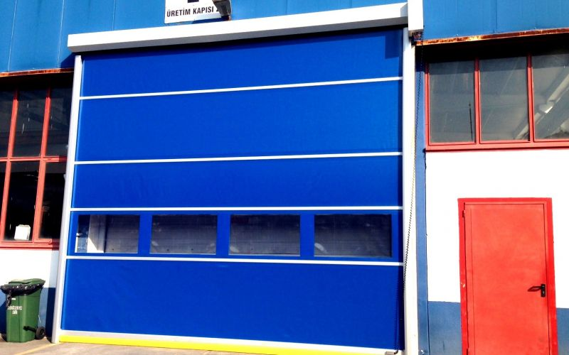 Hızlı PVC (Branda) Katlanır Kapı7