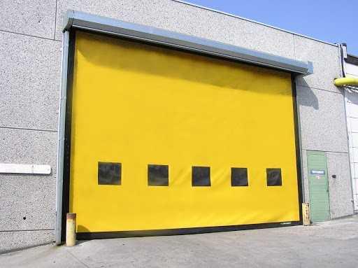 Yüksek Hızlı PVC Branda Sarmal Kapı